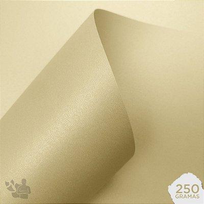 Papel Color Pop Luminous - Mimo - Creme - 250g - 30,5x30,5cm