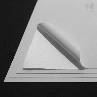 Vinil Adesivo Branco Fosco - Jato de Tinta - A4 - 210x297mm