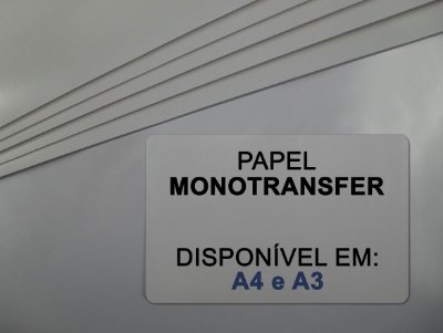 Papel Transfer para Rígidos - Monotransfer - 100g - Laser - A4 - 210x297mm