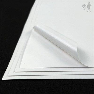 Papel Adesivo Branco Brilho - Laser - A3 - 297x420mm