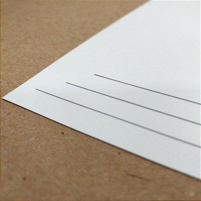 PVC Branco - 400 Micra - Laser - A4 - 210x297mm