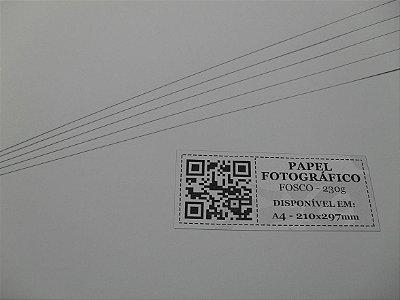 Papel Fotográfico Fosco/Matte - 230g - 20 Folhas - Jato de Tinta - A4 - 210x297mm