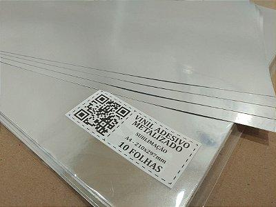 Vinil Adesivo Metalizado - Sublimação - A4 - 210x297mm