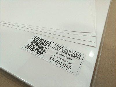 Vinil Adesivo Transparente - Sublimação - A4 - 210x297mm