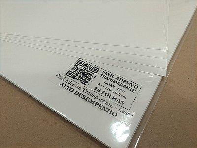 Vinil Adesivo Transparente - Laser - Alto Desempenho - A4 - 210x297mm