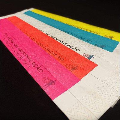 Pulseira de Identificação - 10 por Folha - Jato de Tinta - 200x250mm