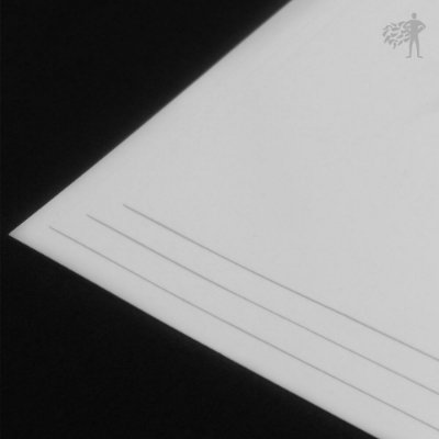 BOPP Adesivo Branco Brilho - Laser - Alto Desempenho - A3 - 297x420mm