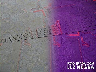 Papel para Ingresso - 8 por Folha - Sem Fita Holográfica - A4 - 210x297mm