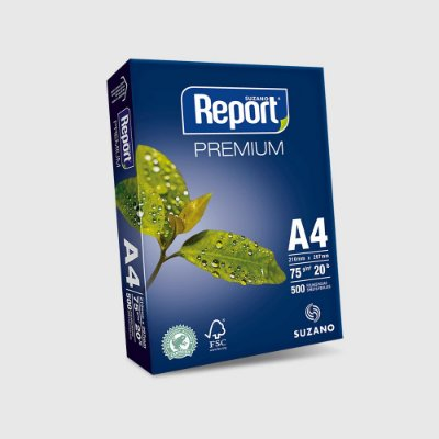 Papel Sulfite - Report Premium - 75g - A4 - 210x297mm