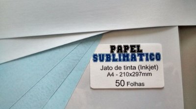 Papel Sublimático - 100g - Jato de Tinta - A4 - 210x297mm
