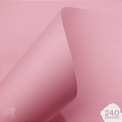Papel Color Plus - Verona - Rosa Bebê - 240g - A4 - 210x297mm