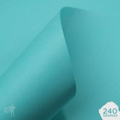 Papel Color Plus - Aruba - Tiffany - 240g - A4 - 210x297mm