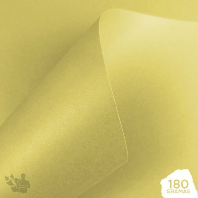 Papel Perolizado - Bege - Antique - 180g - A4 - 210x297mm