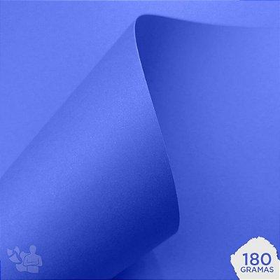 Papel Color Plus - Grécia - Azul Royal - 180g - A4 - 210x297mm
