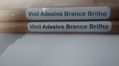 Vinil Adesivo Branco Brilho - Laser - Tradicional - SRA3 - 330x480mm