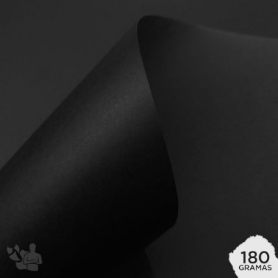 Papel Color Plus - Los Angeles - Preto - 180g - A4 - 210x297mm