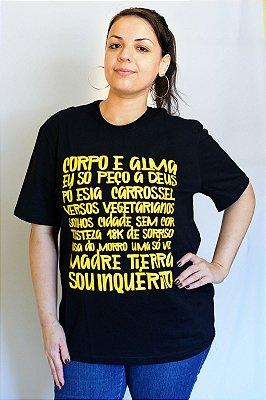 Camiseta Inquérito Corpo e Alma Lettering