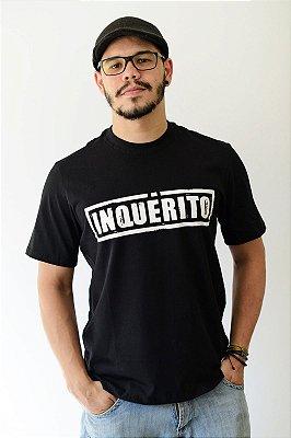 Camiseta Inquérito Preta Carimbo