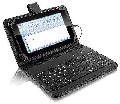 Capa Tablet Mini Teclado + Suporte Slim Usb - Multilaser