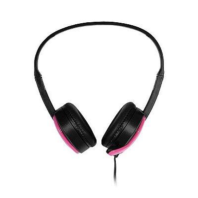 Fone De Ouvido Headset 110 Db P2 Rosa - Multilaser