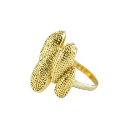 Anel Dourado Semi Joias