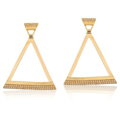 Brinco Triângulo Dourado Semi Joias Moderna
