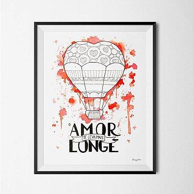 Ilustração O Amor Te Leva Mais Longe