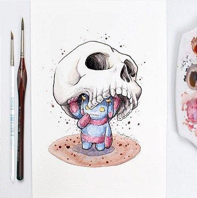 Ilustração Monstro Caveira