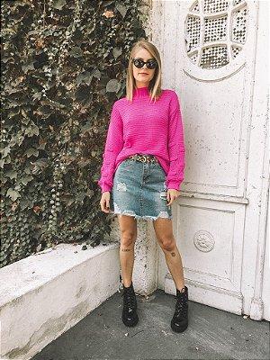 Tricô Blusão Rosa