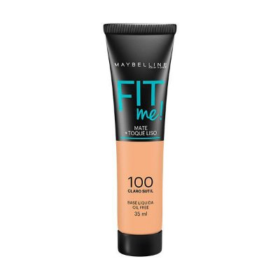 Base Líquida Fit Me Nº 100 Claro Sutil - Maybelline