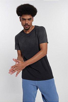 Camiseta Masculina de Malha com Gola Careca Stoned Used Degradê