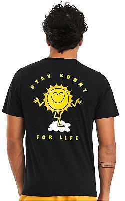 Camiseta Masculina Malha Algodão Estampada - Stay Sunny
