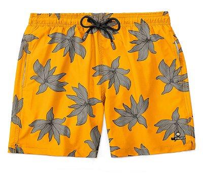 Shorts Praia Masculino Estampado LaVíbora - Yellow