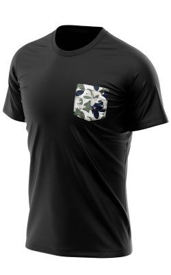 Camiseta Bolso Estampado Botanical