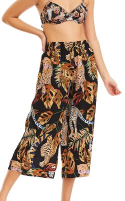 Calça Feminina Pantacourt Viscose - Cheetah
