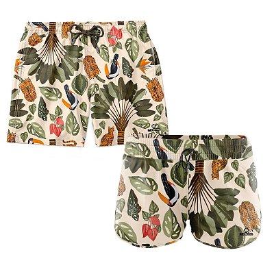 Shorts de Casal Praia Estampados LaVibora - Bengal