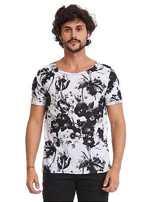 Camiseta Longline - Floral