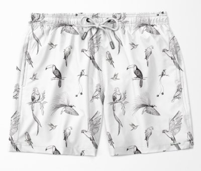 Summer Shorts Premium (Microfibra) - Birds
