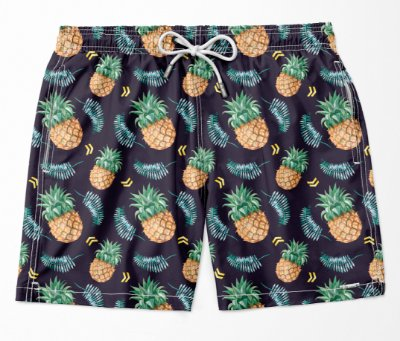 Summer Shorts Premium (Microfibra) - Pineapple