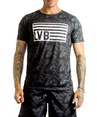 Camiseta Masculina - Black Tropical