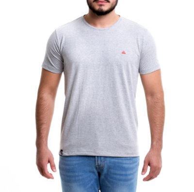 Camiseta Masculina - Basic Gray