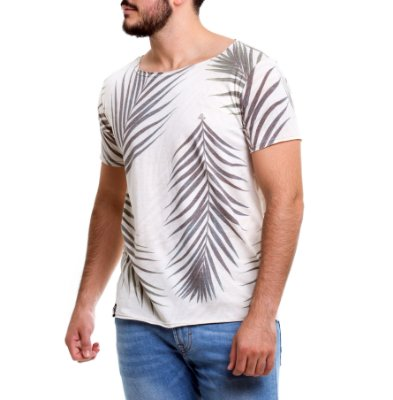 Camiseta Gola Canoa - Folhagem