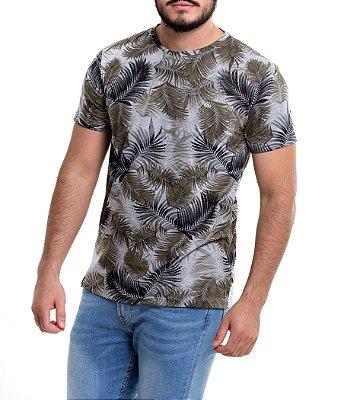 Camiseta Masculina - Gray Tropical