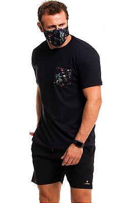 Camiseta Bolso Estampado - Tropical