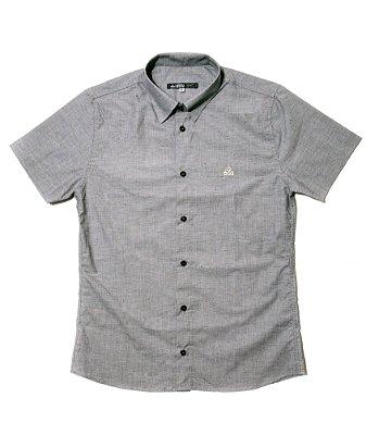 Camisa Masculina Manga Curta Botonê Cinza