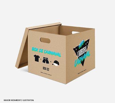 BOX carnaval: 1 camiseta + 1 shorts + 1 boné