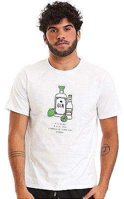 Camiseta Masculina Malha Algodão Estampada - Gin & Tonic