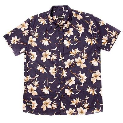 Camisa Estampada Tricoline - Sapphire