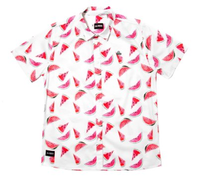 Camisa Estampada Tricoline - Watermelon