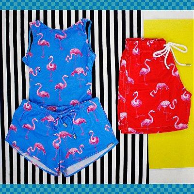 Par de Vaso - Flamingos